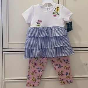 BRAND NEW Laura Ashley 2 pcs outfit in 24 months
